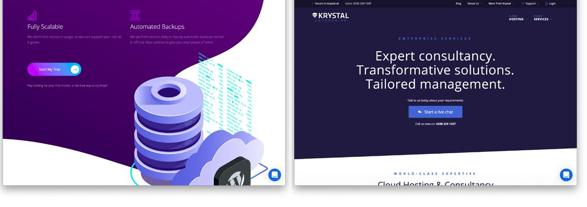 Krystal Hosting website