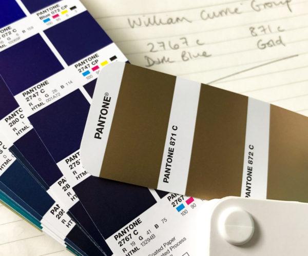 William Currie Group Logo Pantone Colours