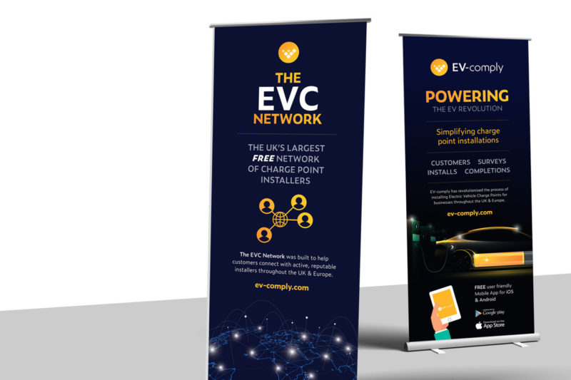 EV-comply roller banners